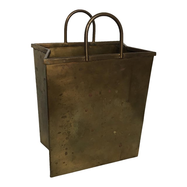 Small Vintage Brass Shopping Bag - Image 1 of 10