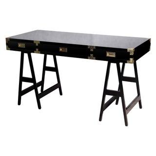 Selamat Designs Chiba Black Lacquer Study Desk For Sale