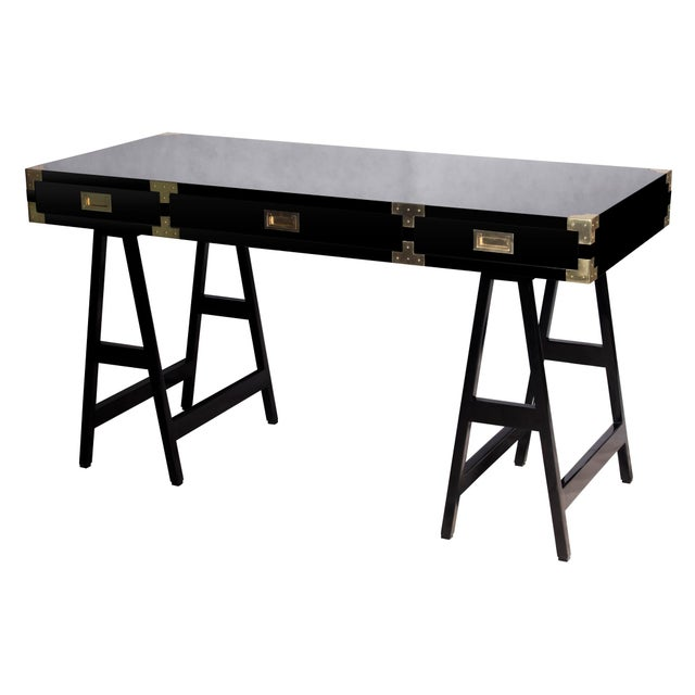Selamat Designs Chiba Black Lacquer Study Desk - Image 1 of 4