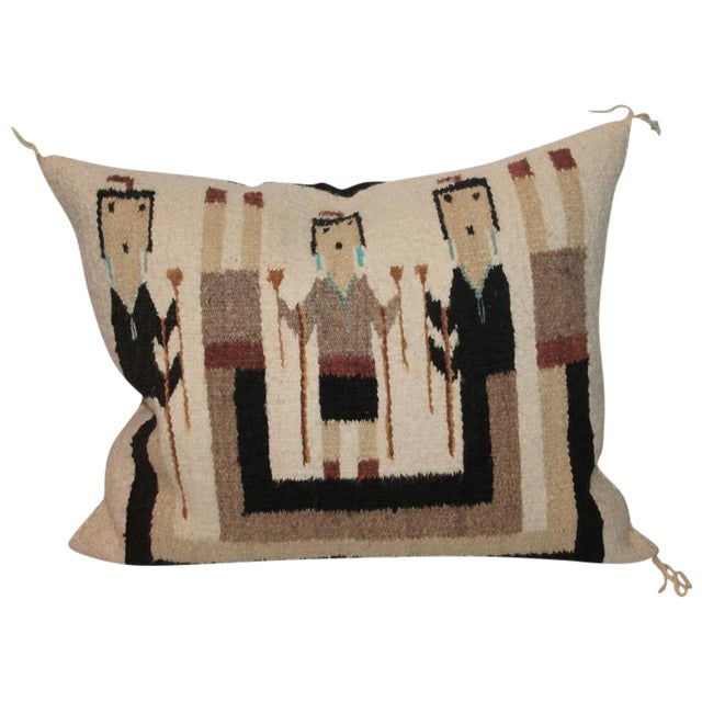 Yea Navajo Indian Weaving Pillow For Sale