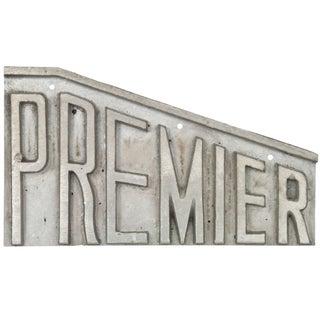 Aluminum Premier Sign