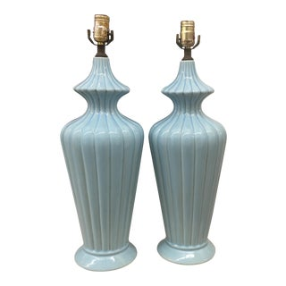 Lamps - Ceramic Robins Egg Blue - a Pair
