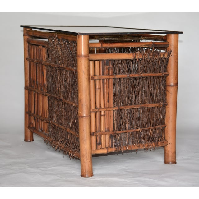 Bamboo Antique Japanese Bamboo Table For Sale - Image 7 of 8