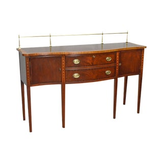 Ethan Allen 18th Century Collection Mahogany Inlaid Hepplewhite Style Sideboard