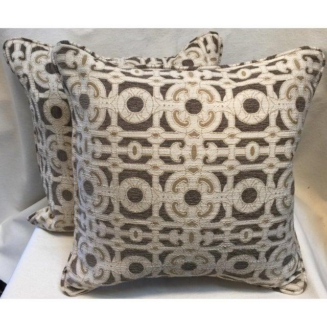 Cream & Brown Custom Pillow - Image 7 of 8