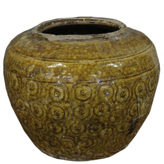 Golden Coins Pottery Vessel