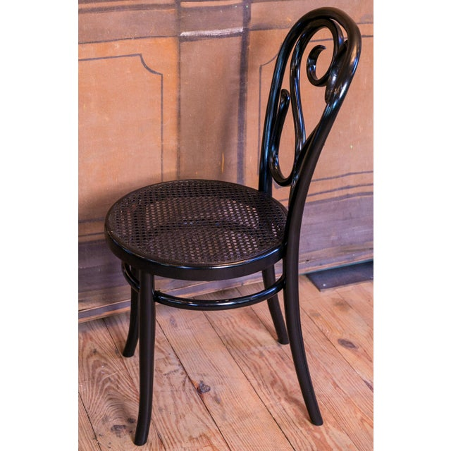 French Set of Five Bentwood Bistro Chair For Sale - Image 3 of 7