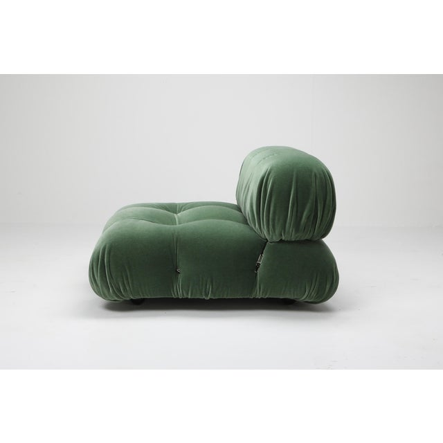 Textile 1970s Mario Bellini Camaleonda Lounge Chair in Pierre Frey Mohair For Sale - Image 7 of 9