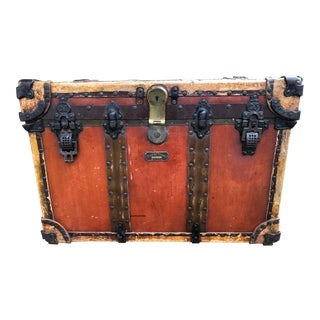 Antique Crouch & Fitzgerald Steamer Trunk For Sale