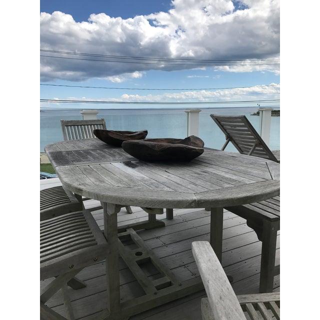 Teak Wood Bowls - A Pair - Image 6 of 12