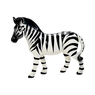 Italian Handmade Zebra Figurine For Sale