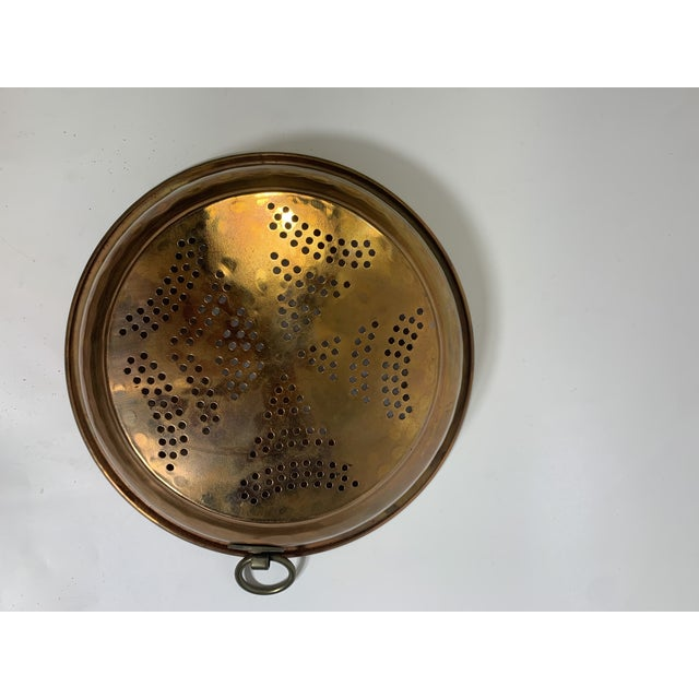 French Country Vintage French Country Copper Strainer For Sale - Image 3 of 10