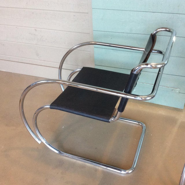Mies Van Der Rohe Mr20 Cantilever Chairs- a Pair - Image 3 of 8