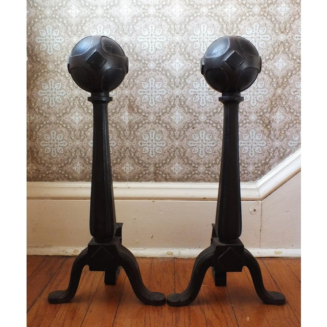Gothic Medieval-Style Fireplace Andirons - Image 3 of 9