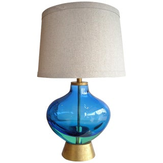 Flavio Poli for Seguso Monumental, Murano Glass Table Lamp For Sale