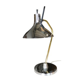 Mid Century Anglepoise Chrome Desk Lamp by Prescolite For Sale