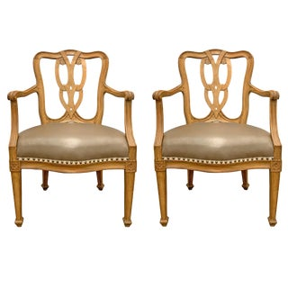 Early 20th Century Italian Armchairs - a Pair For Sale