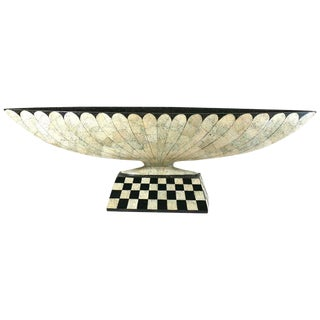 Art Deco Revival Lacquer and Eggshell Tazza For Sale