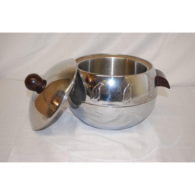Modern Antique 1930s Penguin-Motif Chrome Ice Bucket For Sale - Image 3 of 3