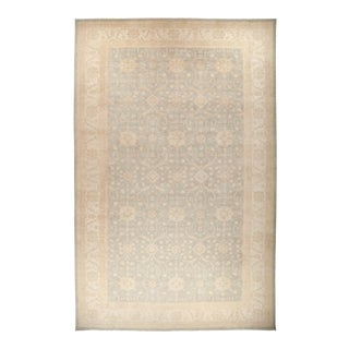 "Hand Knotted Oushak Area Rug - 12' 7"" X 19' 10"" For Sale"