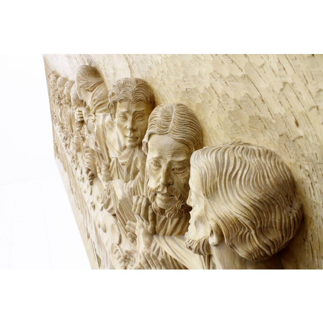"""""""The Last Supper"""" Wood Carving Relief Masterpiece by Emrich Mussner, 1976 For Sale - Image 6 of 11"""