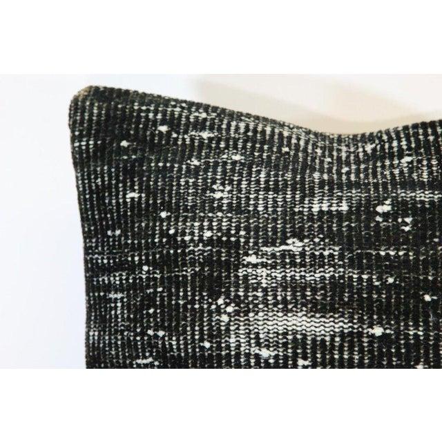 Black Handmade Overdyed Rug Pillows - Pair - Image 2 of 4