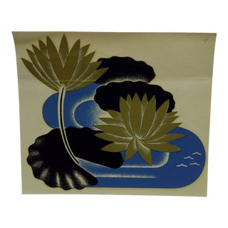 The Meyercord Co. Chicago Abstract Flower Decal / Wall Decoration For Sale
