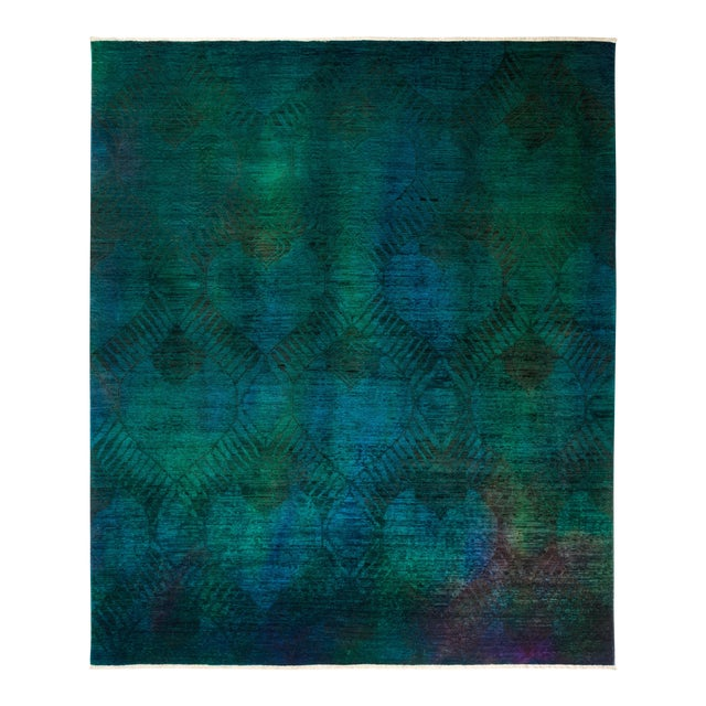 "Vibrance Hand Knotted Area Rug - 7' 10"" X 9' 6"" - Image 1 of 4"