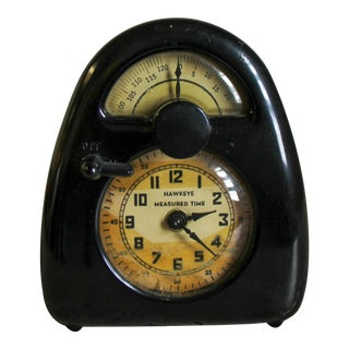 Wind-Up Noguchi Bakelite Clock and Kitchen Timer for Hawkeye Measured Time For Sale