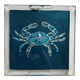 Blue Crab Fluid Acrylic Tray For Sale