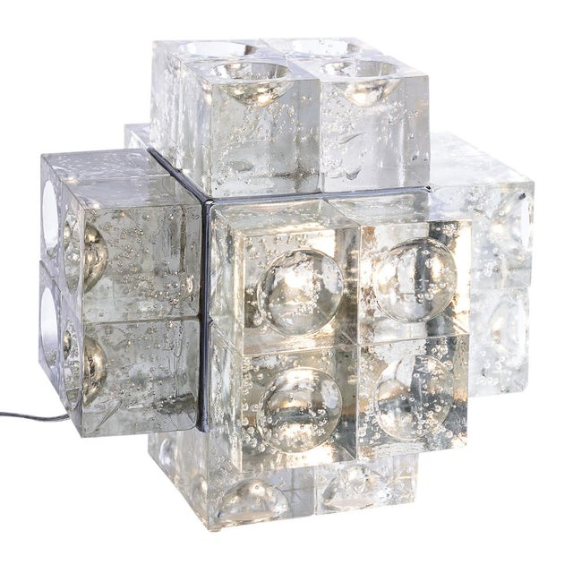 Transparent Murano Glass Italian Mid-Century Table Lamp by Albano Poli for Poliarte, 1960s For Sale - Image 8 of 12