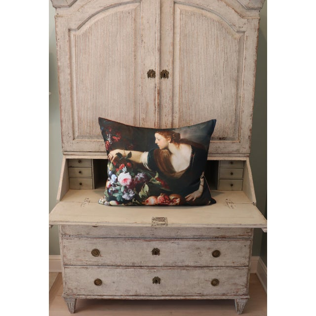 Paris Photo Pillow Italian Painting in the Louvre For Sale - Image 9 of 12