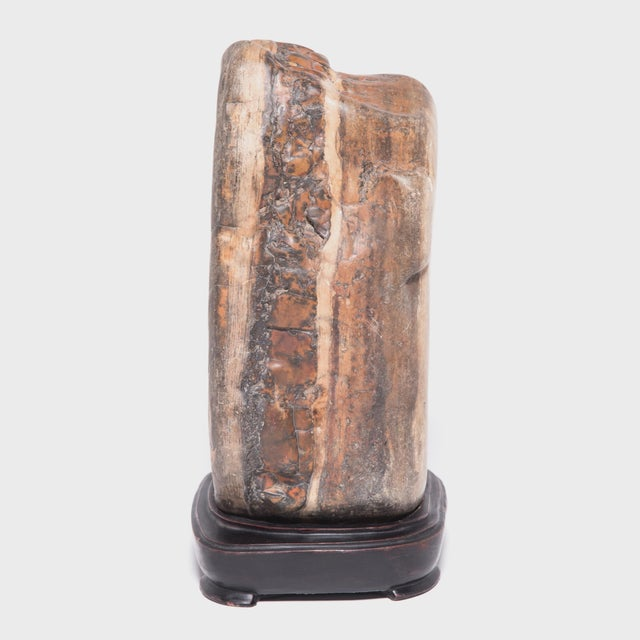 Early 21st Century Chinese Dahua Stone in Carved Stand For Sale - Image 5 of 5
