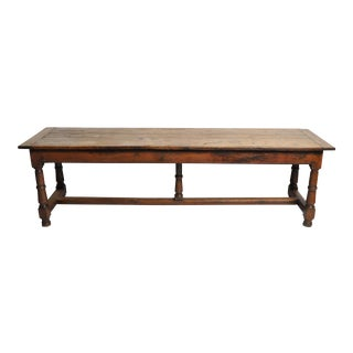 19th Century French Oak Draper's Table With Two Drawers For Sale