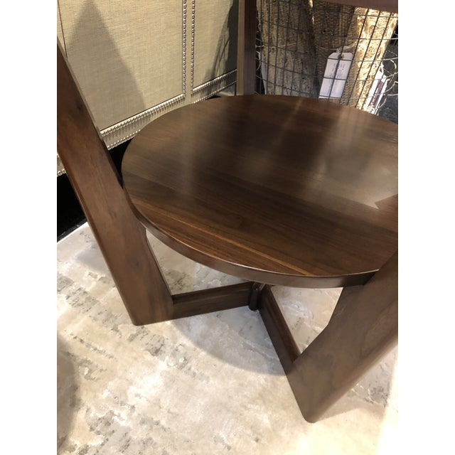 2010s Contemporary Borkholder Walnut Aero End Table For Sale - Image 5 of 7