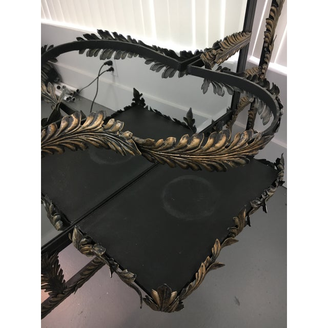 John Richard Black Wrought Iron Mirror For Sale In West Palm - Image 6 of 10