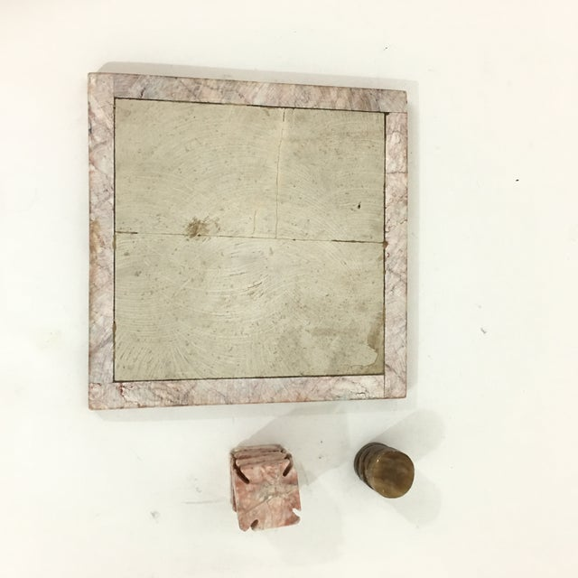 Pink Pink Stone Tic Tac Toe Game Board For Sale - Image 8 of 9