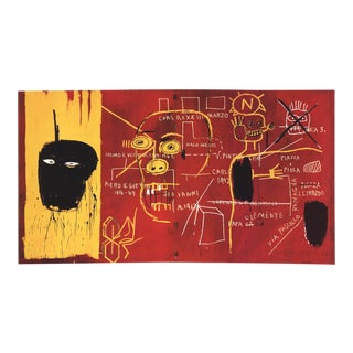 2002 Jean-Michel Basquiat 'Florence' Pop Art Yellow,Red,White,Black Italy Offset Lithograph For Sale