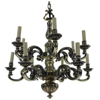 Charles II Style Silver Chandelier