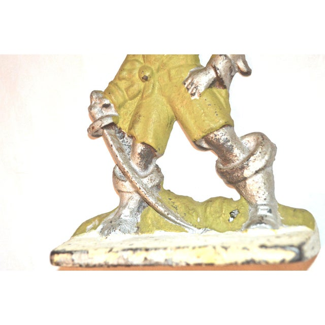 1920s Pirates With Parrots Painted Bookends - A Pair For Sale - Image 10 of 10