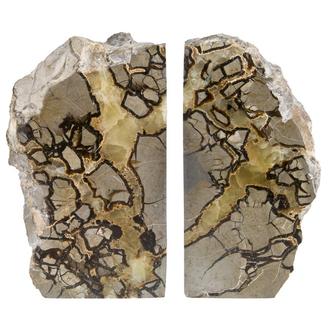 Polished Septarian Stone Bookends - A Pair - Image 1 of 5
