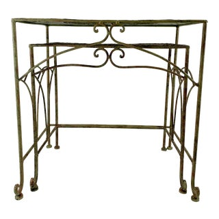 Ornate Metal Nesting Tables For Sale
