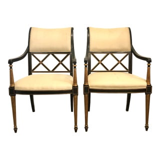 Regency Dining Chairs by Dorothy Draper Design for Henredon - a Pair For Sale