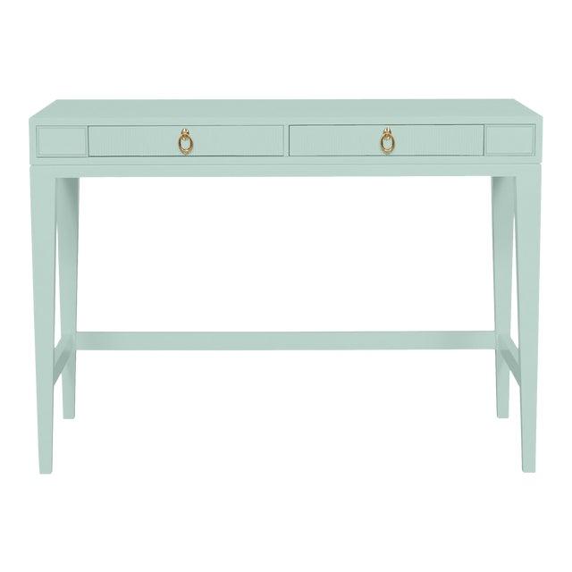 Casa Cosima Living Issa Counter Height Desk - Palladian Blue For Sale