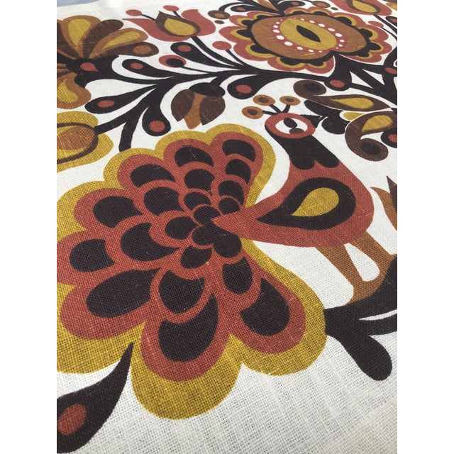 Boho Chic Södahl/Sodahl Denmark Peacock and Floral Wall Tapestry For Sale - Image 3 of 12