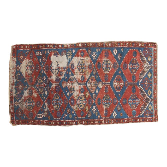 """Antique Shirvan Rug - 4'4"""" x 7'8"""" For Sale"""