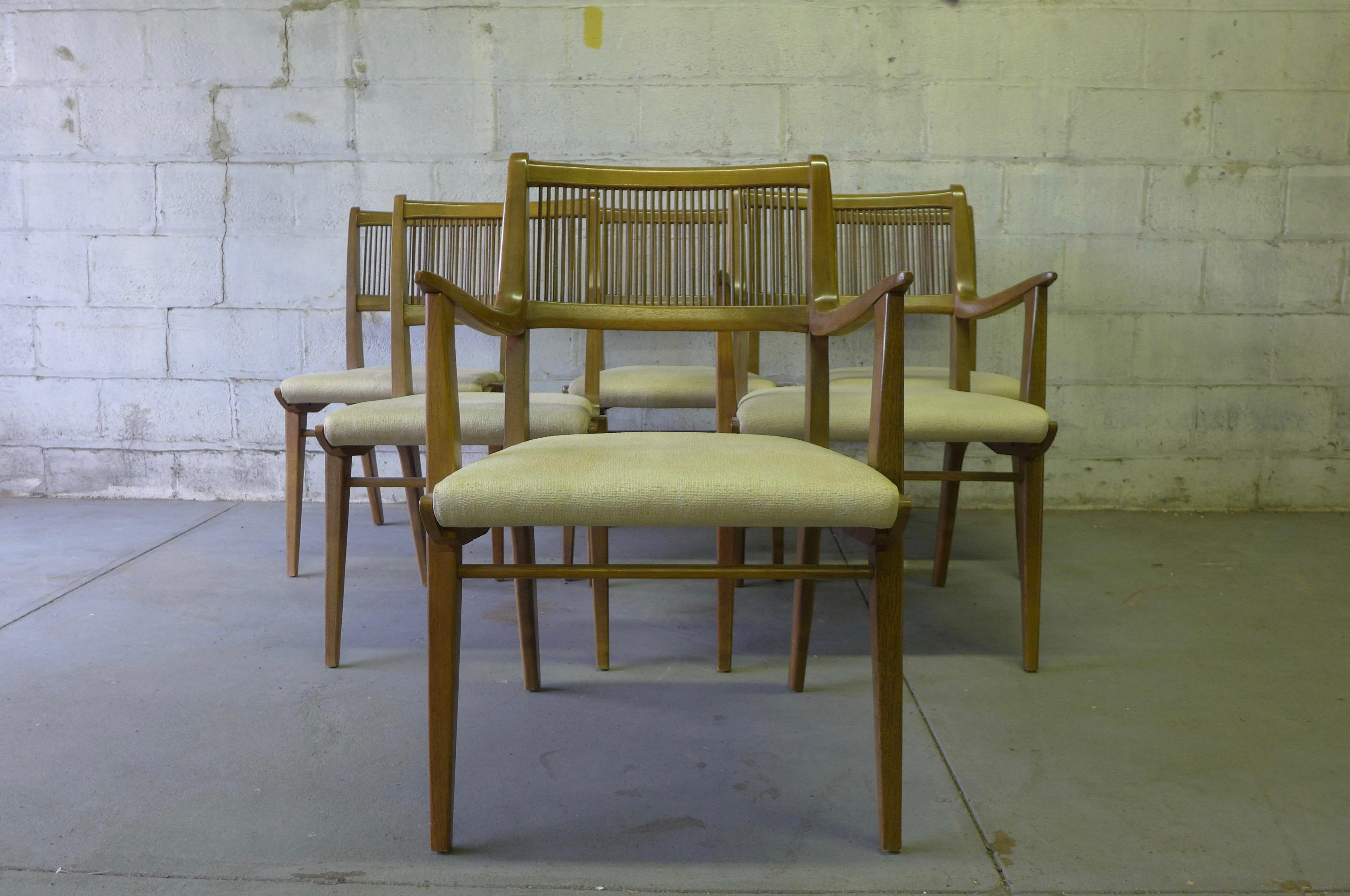 Drexel Mid Century Modern Dining Chairs By John Van Koert, Set Of 6   Image