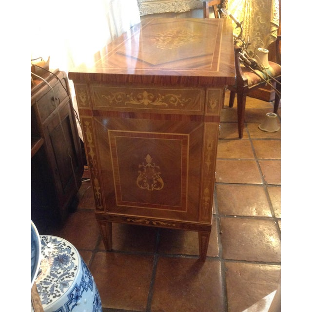 1960s 1960s Inlaid Italian Neoclassic Commode For Sale - Image 5 of 13