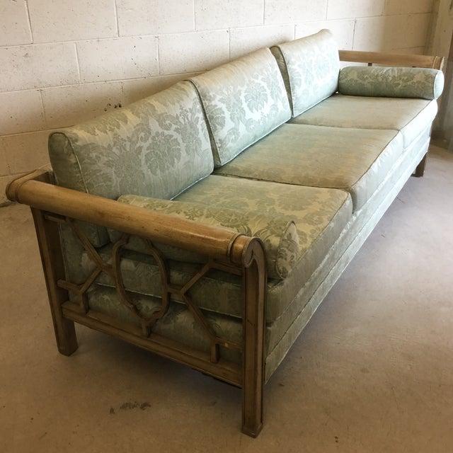 Palm Beach Regency Dorothy Draper Style Fretwork Sofa - Image 3 of 12
