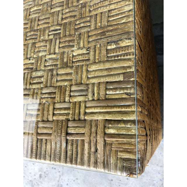 Vintage Woven Wrapped Rattan Chests- a Pair For Sale - Image 11 of 13